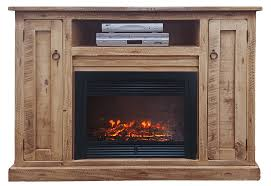 30857 rustic tall fireplace tv stand product 30857 front view