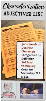 best myself essay ideas love essay essay plan  in this product by bespoke ela i have compiled a list of adjectives many of them sat level words that can be used to describe a character