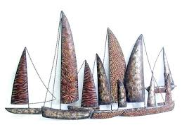 regatta boats metal wall art