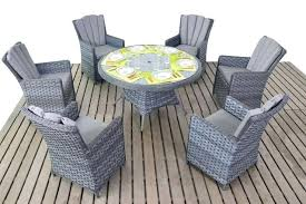full size of grey outdoor dining table and chairs garden platinum round 6 rattan living kitchen