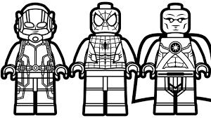 Small Picture Lego Spiderman And Ant Man Martian Manhunter Coloring Throughout