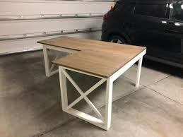 how to make al shaped desk plan l shaped double x home bar ideas diy home