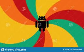 Abstract <b>Design</b>, Black Android Logo, Orange, <b>Red</b>, <b>Green</b> And ...