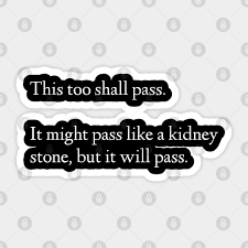 Kidney stone disease paper cut 3d poster kidney stone disease awareness poster with kidneys made in 3d paper cut craft style on white background. This Too Shall Pass It Might Pass Like A Kidney Stone But It Will Pass Humor Sticker Teepublic
