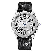 cartier watches ernest jones cartier ronde solo men s stainless steel black strap watch product number 9768513