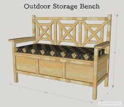 how to build a diy outdoor storage bench with free plans by jen woodhouse