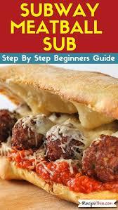subway meatball sub air fryer copycat recipe