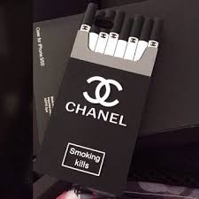 chanel iphone case. chanel phone case smoking kills iphone 6 5 4 o