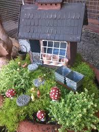 fairy garden, chickens, toadstools