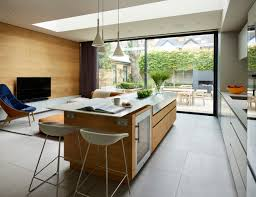 an open plan kitchen