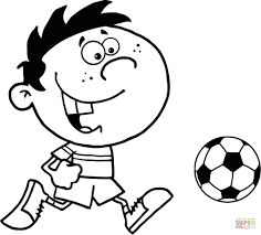 Coloring Pages Soccer Coloring Pages Free Boy With Ball Page