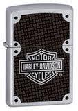<b>Зажигалка Zippo Harley</b>-<b>Davidson</b> Carbon Fiber Satin Chrome