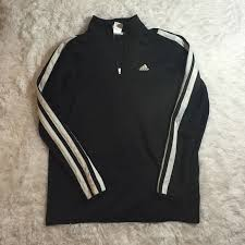 adidas quarter zip. adidas sweaters - original quarter zip 3 stripe sleeve l