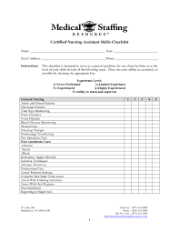 Sample Resume Medical Office Skills Checklist New Medical Assistant