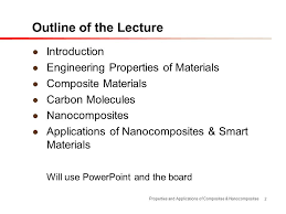 Ppt On Composite Materials Properties And Applications Of Composites Nanocomposites Ppt