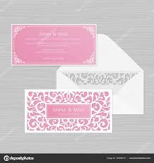 Invitation Envelope Template Wedding Invitation Or Greeting Card With Vintage Ornament