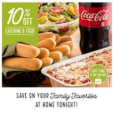 olive garden 10 off catering to go this weekend