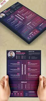Creative Resume Design Template Psd Psdfreebies Com