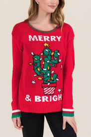 Christmas Cactus Light Up Christmas Cactus Tacky Light Up Sweater Christmas Cactus