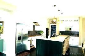 copper pendant lights kitchen light white over island