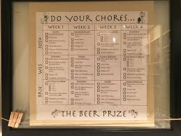 Roommate Chore Chart Do All Your Chores You Get Beer At The