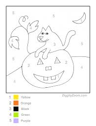 Small Picture Color by Number Pumpkin2 kids Pinterest Worksheets Number