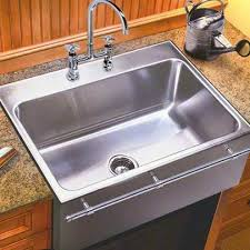 drop in apron front sink.  Drop Just Mfg Extra Large Stainless Steel Apron Front Single Bowl Dropin  Kitchen Sink With Throughout Drop In Apron Front Sink