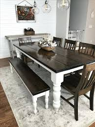 black table bench full size of dining enticing farmhouse dining room table with black chair black table and bench set