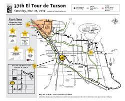 Tucson Elevation Chart Route Maps Cuesheets Sag El Tour De Tucson