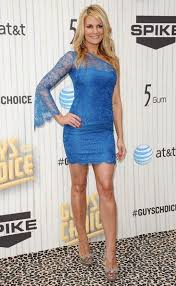Courtney Hansen Fashion and Style   Courtney Hansen Dress  Clothes     Getty Images Ladies in red  Felicia Day and Courtney Hansen set pulses racing in their  body contour