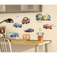 roommates cars 2 l and stick wall decals
