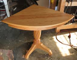 quarter round table top view