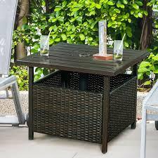 rattan umbrella side table outdoor