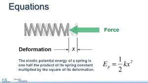 equations the elastic potential energy of a spring is one half the of its spring