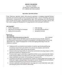 Sales Analyst Resume Operations Analyst Resume Example Global Fortune 500 Company