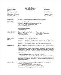 Sample Resume Mechanical Engineer Sample Of Mechanical Engineer Resume Mechanical Engineering Resume 36