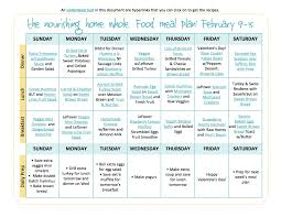 Weekly Food Menu Chart Bi Weekly Whole Food Meal Plan February 2 15 The Better Mom