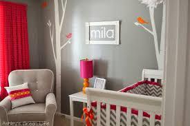 Orange And Grey Bedroom Ashleys Green Life Baby Milas Grey Pink Orange Nursery Reveal