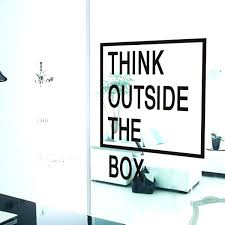 creative office wall art. Contemporary Wall Office Decals Wall Graphics Think Outside The Box Quotes  Art Creative Sticker  To