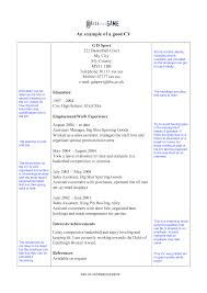 Good Cv S Resumess Memberpro Co How To Write A Resume For Students