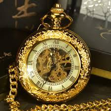 online get cheap mens pocket watch aliexpress com alibaba group tiedan steampunk skeleton mechanical pocket watches men antique luxury brand hand wind necklace pocket fob watch chain gold