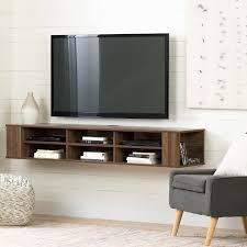 11963 natural walnut 66 inch wall mounted tv stand city life