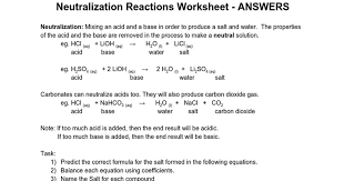 Neutralization Reaction Worksheet - Switchconf