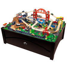 Table Set For Kids Kidkraft Metropolis Train Table And Train Playset 17935 The Home