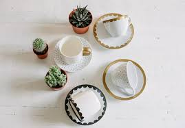 diy hand painted tea cups