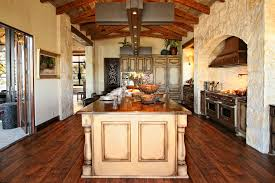 Rustic Spanish Kitchen Design Rustic Spanish Inspired Kitchen Center Island Highlights By