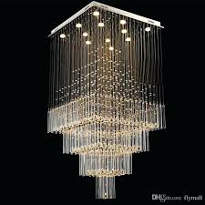 modern crystal chandelier light square led pendant lamp luxurious fashion stairs living room lighting ceiling fixtures