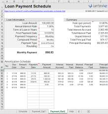 Loan Payment Schedule Amortization Schedule Mortgage