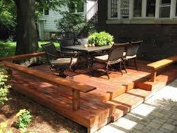 Floating Deck Designs Wonderful Cheap Floating Deck Design For Your Backyard