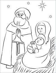 Family Coloring Pages Printable Holy Family Coloring Page Alterneinfo